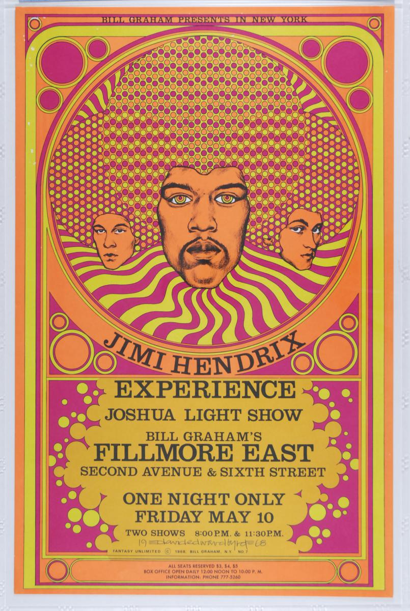 A $4000 Reward Is Offered For This Jimi Hendrix Fillmore East 5/10/68 Concert Poster