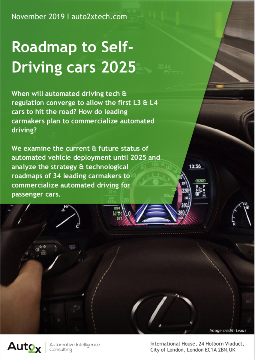 Leading carmakers' roadmap and strategy to commercialize Autonomous Driving