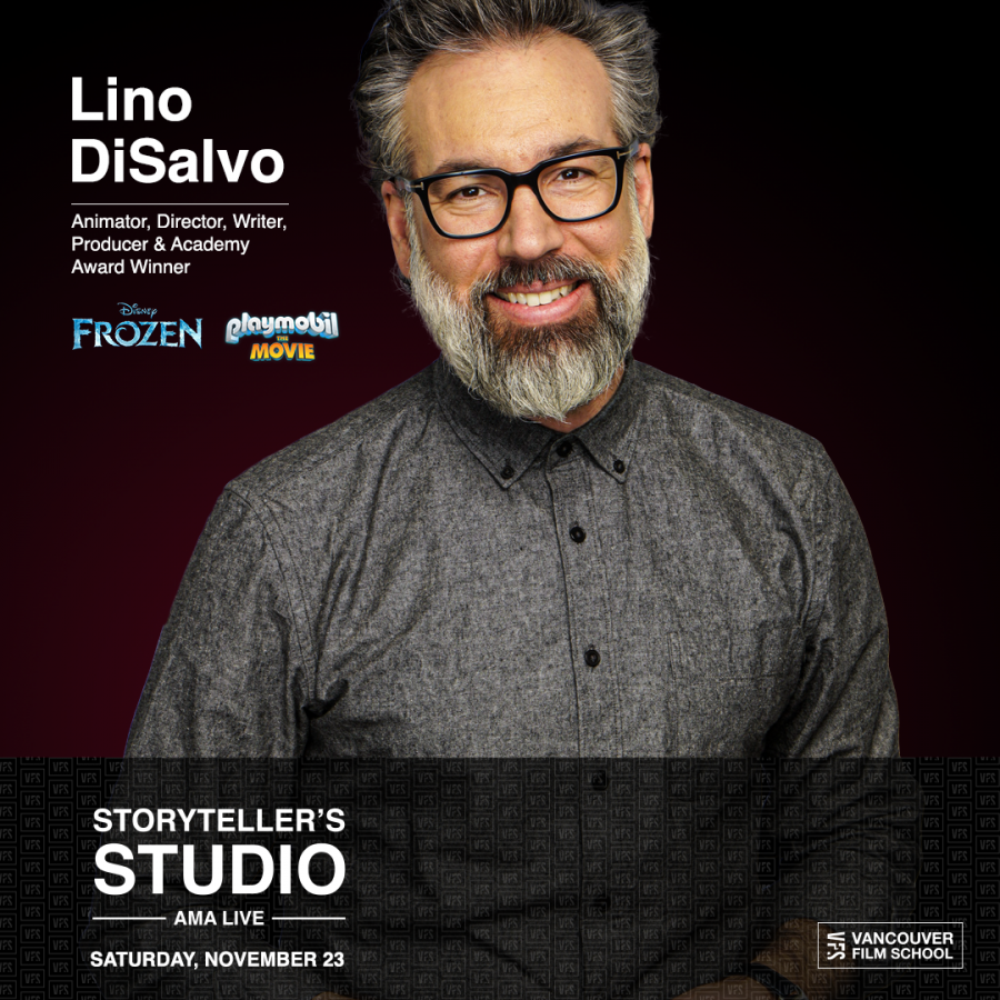 Lino DiSalvo to be interviewed in front of a live audience at Vancouver Film School Saturday November 23