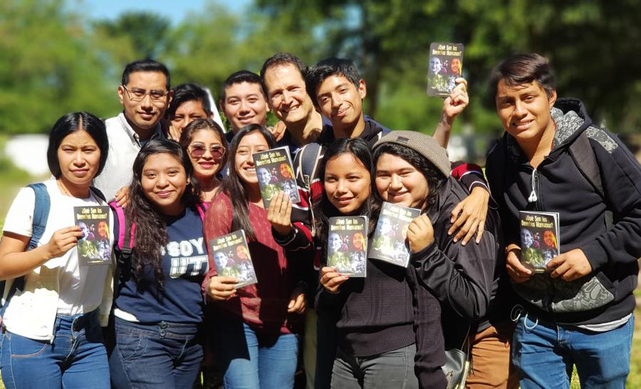 Youth learn about their rights at a human rights forum at Yucatan University