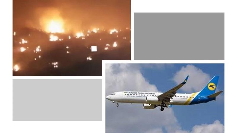 Tehran, Iran - Ukraine Boeing 737 passenger plane crashed by IRGC missilesUkraine Boeing 737 passenger plane crashed by IRGC missiles