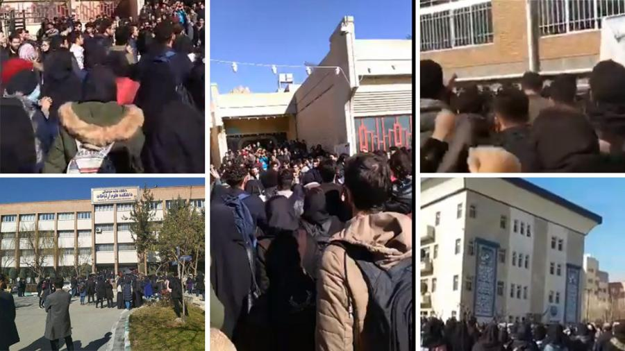 IranProtests - 12 Janury 2020 - Tehran, Karaj, Arak and Damghan scenes of protests