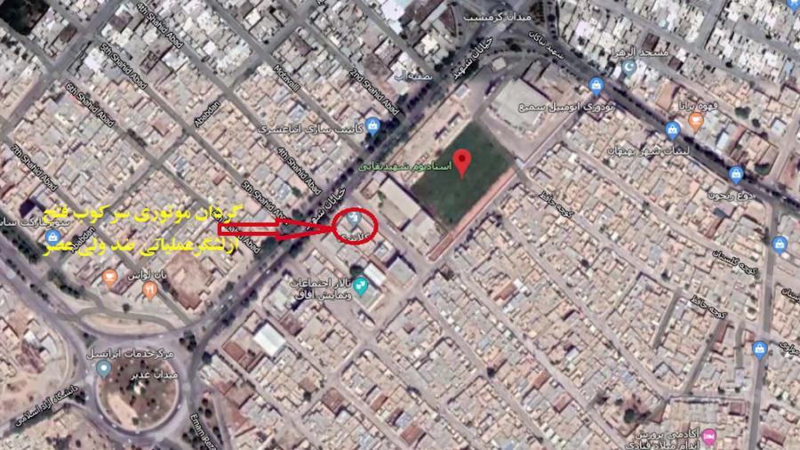 Vali Asr Division in Behbahan was targeted