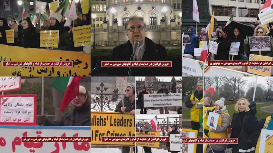 Rally by Members of Iranian diaspora and the MEK supporters in support the nationwide uprising and the Resistance Units in Canada, Denmark, Sweden, Norway, Germany, United States, Nederland