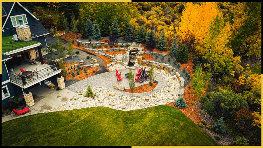 Tazscapes Springbank Landscaping Calgary Project - Day6-2