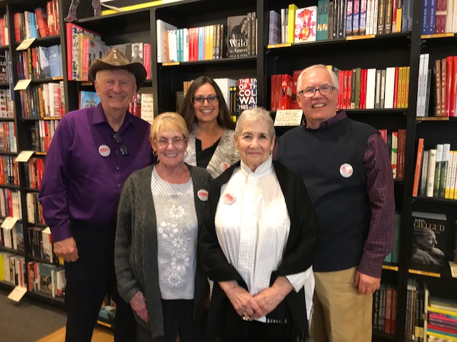 Group shot of award winning Ageless Authors at Book Soup.