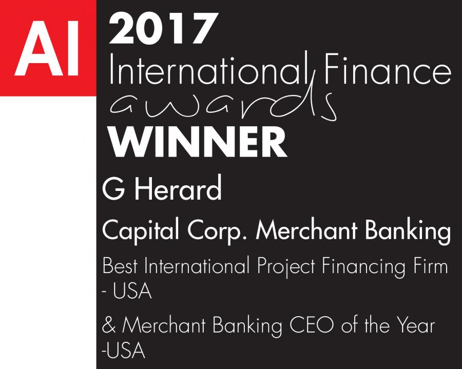 capital corp merchant banking, project financing, project financing award