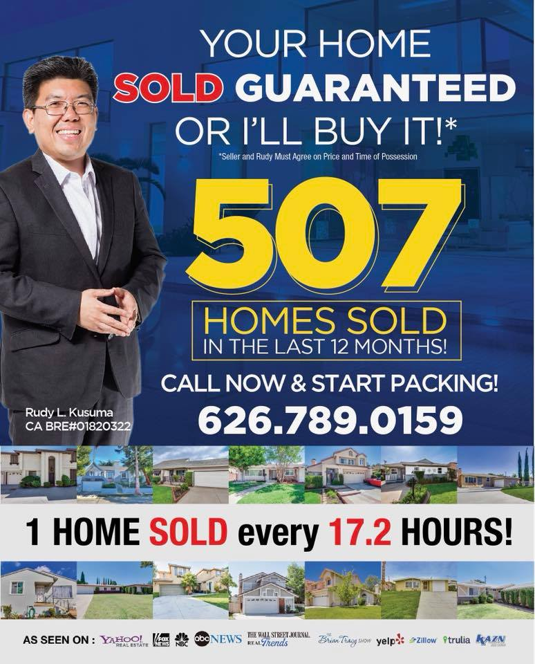 Rudy L Kusuma Home Selling Team SOLD 507 homes