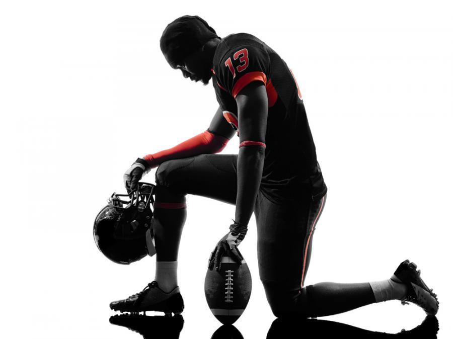 Player kneeling
