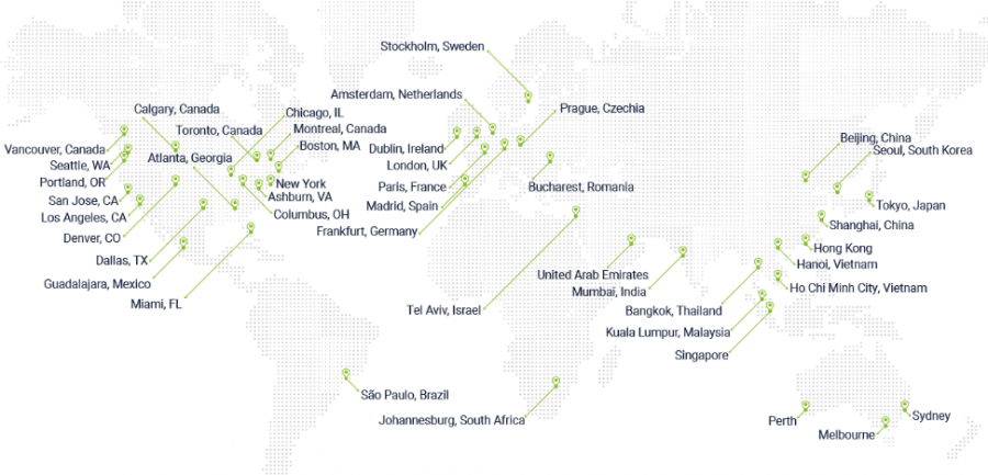 Map of Cato's global network