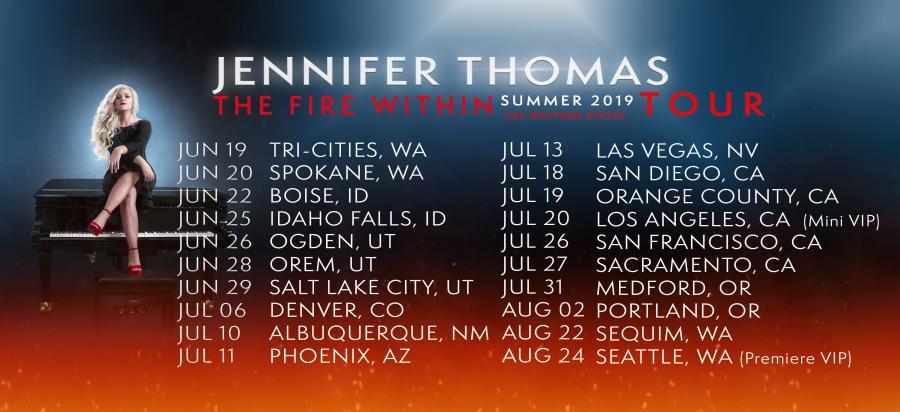 Jennifer Thomas list of tour dates, Summer 2019