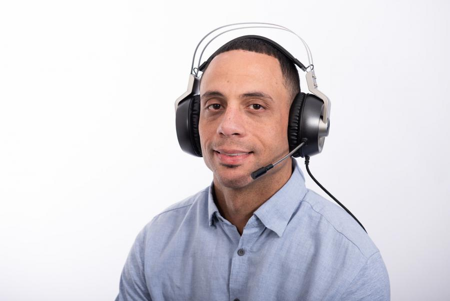 Dominic Barber of NTI on the headset