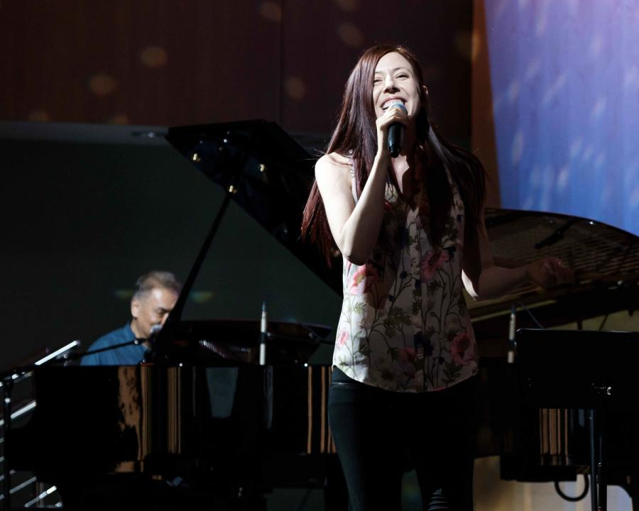 Singing from the heart at the open mic night at the Church of Scientology of the Valley