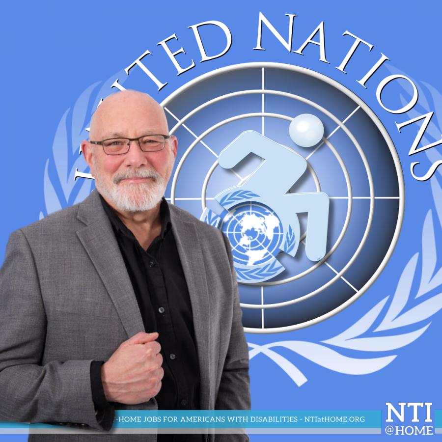 Alan Hubbard, COO of NTI with NTI@Home designed IDPWD logo