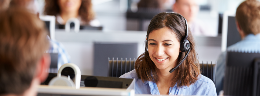 Call Center Agent Talking On Phone