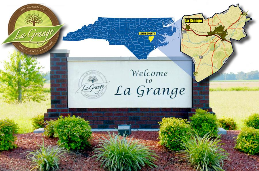 Town of La Grange, North Carolina, Population 2,800.