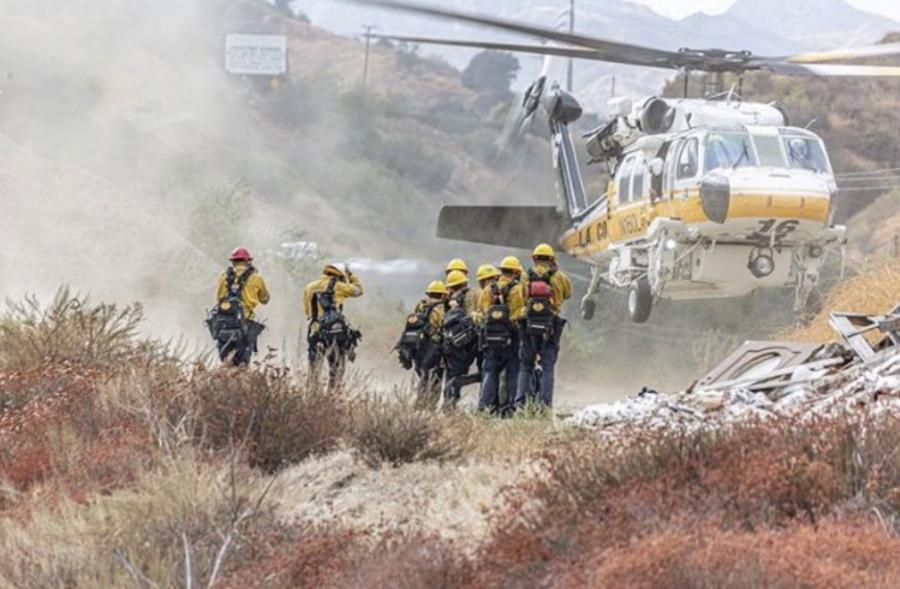 Some 1,000 firefighters are battling the Saddleridge Fire in San Fernando Valley.