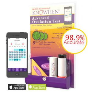 KNOWHEN Saliva Ovulation Test and Fertility Monitor App for tracking