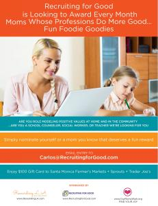 Want to Have Fun for Good? Participate Today ...Mom Nominate Yourself or a Mom Who is an Unsung Hero to Receive a Fun Foodie Goodie