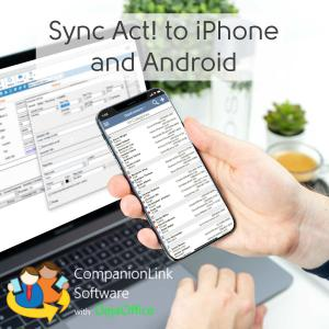 iPhone synchronized with Act! CRM