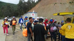 Religions and NGOs work together to help in this humanitarian crisis.