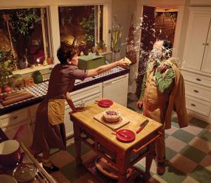 "Artwork by Ryan Schude, titled ""Kitchen,"" medium: photograph, 48x48in, at bgArtGalleries.com, Santa Monica, CA, USA"