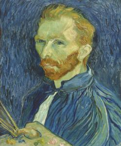 "Title: ""Self-Portrait"" 1889  Artist: Vincent van Gogh (Dutch, 1853-1890) Credit: Collection of Mr. and Mrs. John Hay Whitney (Courtesy National Gallery of Art, Washington)"