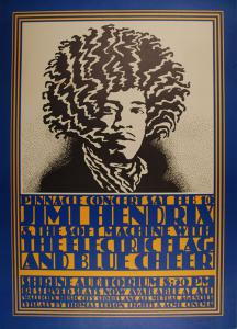 A $6,000 Reward is Offered For This Jimi Hendrix Shrine Auditorium 2/10/68 Concert Poster