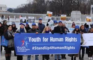 The march will begin at the Lincoln Memorial and end at the World War II Memorial. Attendees are being encouraged to wear something blue in support of the United Nations Universal Declaration of Human Rights (UDHR).