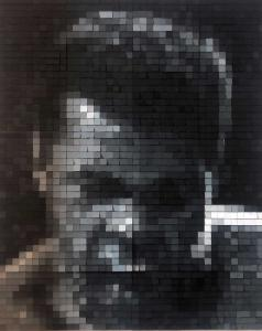 "Daniele Sigalot ""Muhammad Ali"" 2019, Acrylic Varnish on Aluminum, 98 ½ x 78 ¾ in."