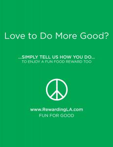 Look for Rewarding LA Founder with this Sign to Enjoy Rewards