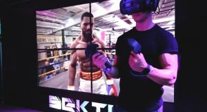 Wireless VR in Sektor, muscular player in Creed boxing game
