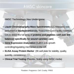 hMSC skincare Science