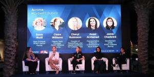 Susie Wolff, Claire Williams, Aseel Al-Hamad and Jamie Chadwick at the Acronis CyberFit Summit