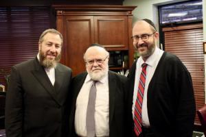 Ezra Friedlander, Dr. Joshua Weinstein, State Senator Felder