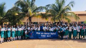 A youth for human rights lecture in The Gambia