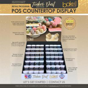 Tinker Dust® Edible Glitter Retail POS Counter-top Display Wholesale Program | Bakell.com