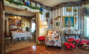 Holden House features holiday decorations in December.