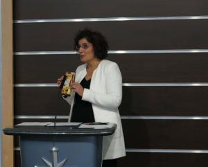 Dr. Alborzi introduced those attending to the Youth for Human Rights International educational initiative.