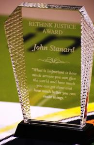 Rethink Justice Award presented to Church of Scientology's national policy advocate for criminal justice reform work.