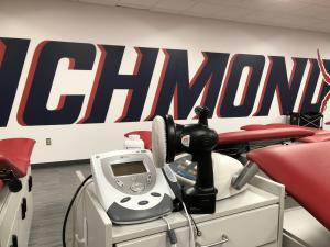 University of Richmond Athletic Department endorses BuffEnuff Power Massager.