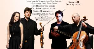 InterHarmony International Music Festival Outstanding Guest Artist Series, Guy Braunstein, violin, Saleem Ashkar, piano, Misha Quint, cello, and Gili Schwarzman, flute, perform in Acqui Terme, Italy on July 23, 2020