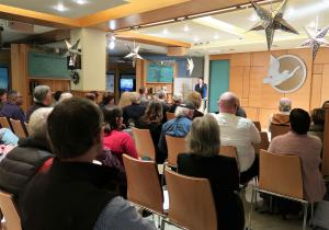 The open house at the Church of Scientology Seattle focused on human rights education as an important element in combatting human trafficking.