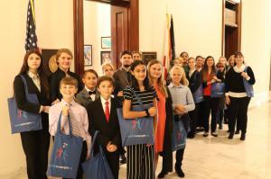Florida youth visiting Congress