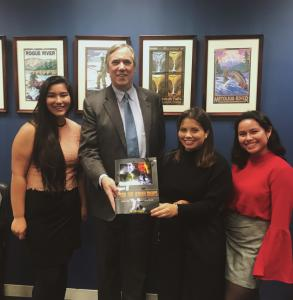 Youth for Human Rights members from Oregon visiting the Oregon Congressional offices