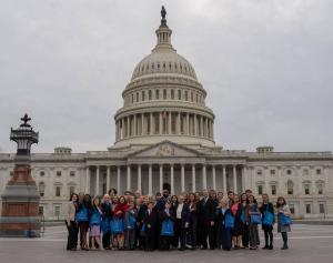Youth doing Congressional visits to support anti-trafficking legislation