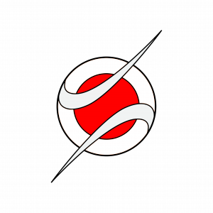 Jump Aero logo: circular design in red and white