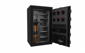 Cannon will debut two new series of secure storage products, both of which are waterproof and fireproof for protection from any disaster. Shown is a preview of the new Cannon Commander safes.