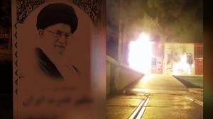 Sabzevar - Khamenei torched