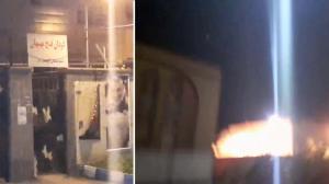 Vali Asr Division in Behbahan burning